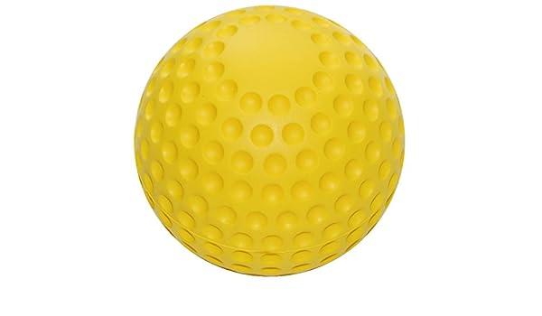 Pelotas de espuma de poliuretano suave en pelota-diseño amarillo 10 cm de diámetro: Amazon.es: Deportes y aire libre