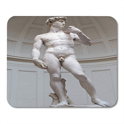 (Boszina Mouse Pads Sculpture Black David David's Statue by Miguel Angel Florence Italy White Michelangelo European Mouse Pad 9.5