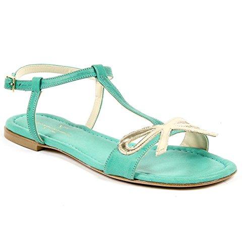 V 1969 Italia Womens Flat Sandal Green Lisa