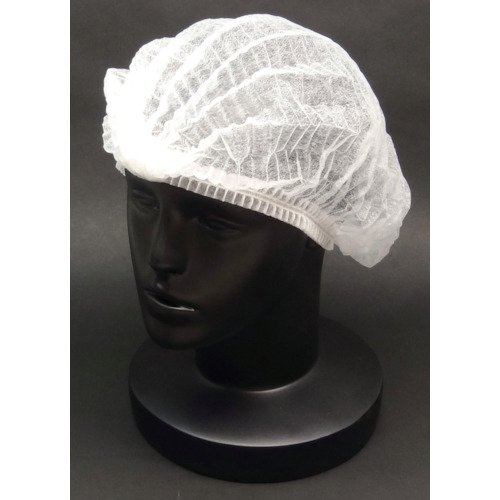 Breathable Disposable Hair Net Cap, Free Size, 100 PCS, White by Utsunomiya Seisaku Co., Ltd.