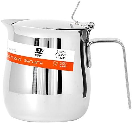 HOME Cafetera para Servir de 2 Tazas, Acero Inoxidable, 10 x 7 x 9 cm: Amazon.es: Hogar