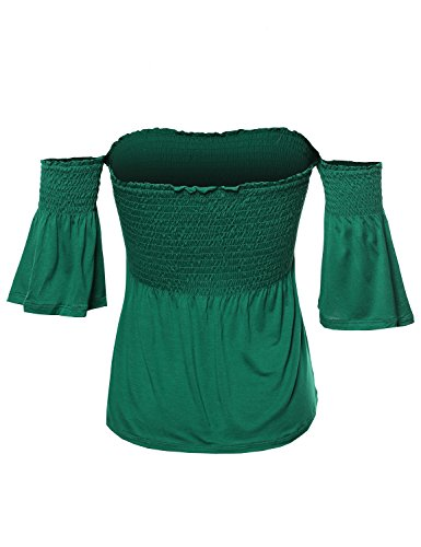 Smocked waist top for women