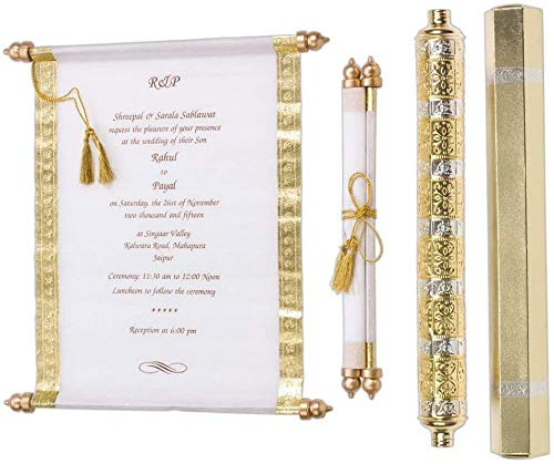 WEDDING Bridal Shower INVITATIONS Scroll Cards