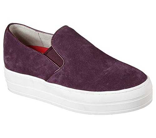 Skechers Uplift Suedeciety Womens Slip On Sneakers Plum 9 -  73432-PLUM-SBSST