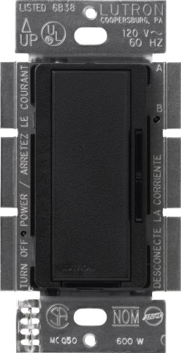 Lutron Maestro C.L Dimmer Switch for Dimmable LED, Halogen & Incandescent Bulbs, Single-Pole or Multi-Location, MACL-153M-MN, Midnight
