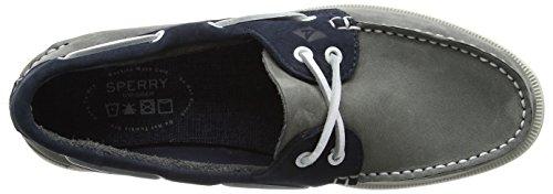 Sperry O 2-Eye Washable, Náuticos Para Hombre Varios Colores (Grey/navy)