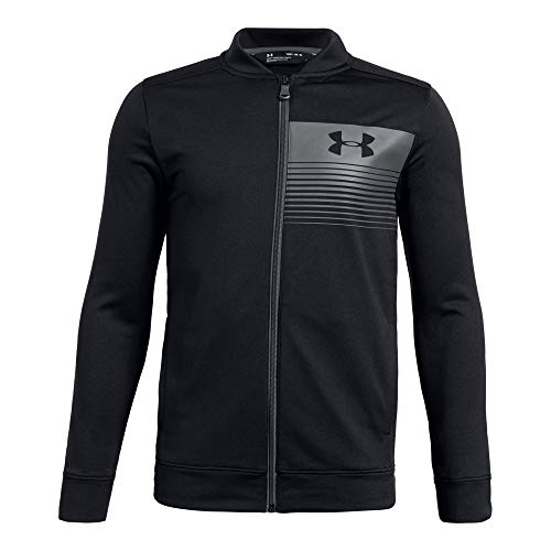 - Under Armour Boys Novelty Pennant Jacket, Black (001)/Graphite, Youth X-Large