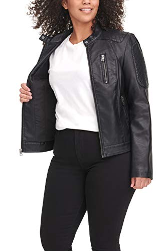 Levi's Women's Faux Leather Motocross Racer Jacket (Standard and Plus)