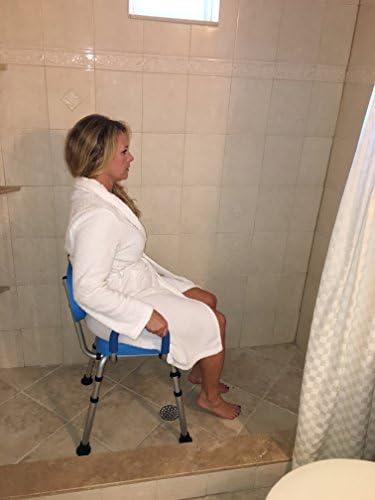 Amazon.com: Silla de ducha, silla de baño, acolchada con ...