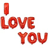 I LOVe YOU text Red Balloons 8 pieces valentine wedding anniversary party decorations