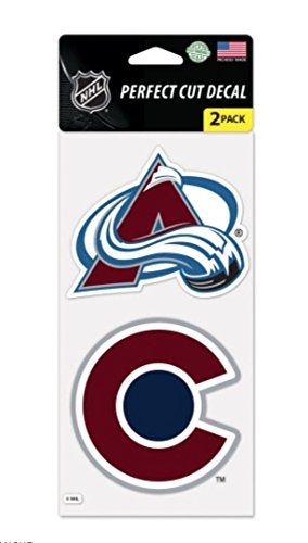 (NHL Colorado Avalanche 4 x 8 Set of Two Perfect Cut Decals)