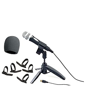 CAD U1 USB Dynamic Recording Microphone with On Stage Foam Windscreen + Cable Ties Pack of Five.