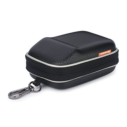 Digital Camera Case Waterproof Hook Portable Carrying Bag Shock Resistant for Sony W800 DSCW800 DSC-HX50V / Canon PowerShot SX720 SX730 / NIKON COOLPIX S9900 / Panasonic Lumix DMC-TZ90 TZ85 / Black (Sony Cyber Shot Waterproof Case)