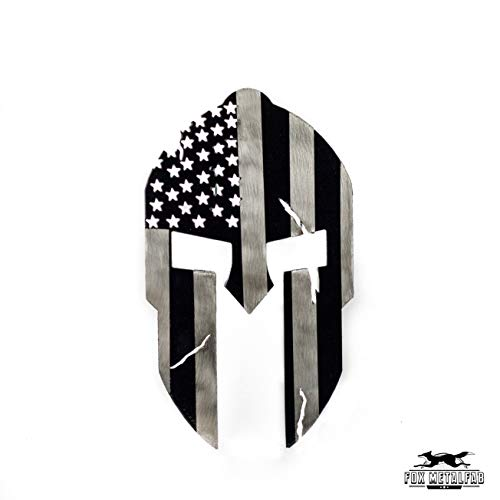 Fox MetalFab Hitch Cover/Receiver/Powder Coated Steel/USA US Subdued American Spartan - Flag Hitch Cover Light