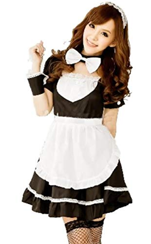 moco BFF Women Lolita French Apron Maid Fancy Dress Anime Cosplay Costume Uniform Outfit Clothing - Costume Maid Velvet French