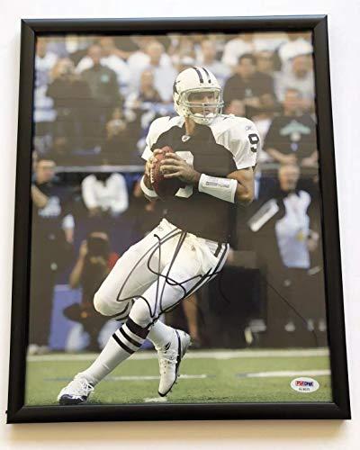 (Memorabilia PSA/DNA COA Dallas Cowboys Tony Romo Autographed Signed Framed Autographed Signed Football 11x14 Photo)