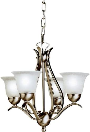 Kichler 2019NI Dover Mini Chandelier 4-Light, Brushed Nickel