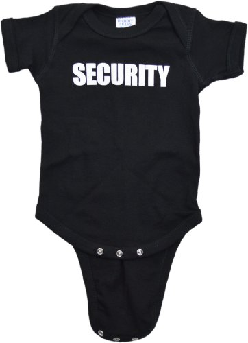 "JTshirt.com-19972-Ann Arbor T-shirt Co. Unisex Baby ""SECURITY"" 