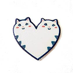 Cat Heart Enamel Pin - Funny, Cute Jewelry Accessory for Girls