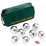 ND Sports Chrome Boules,Pentanque, Set of 8, Including Carry Case
