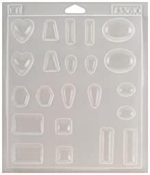 Environmental Technology Castin\' Craft EasyCast Resin Jewelry Mold, 11 Popular Jewelry Shapes On One Tray