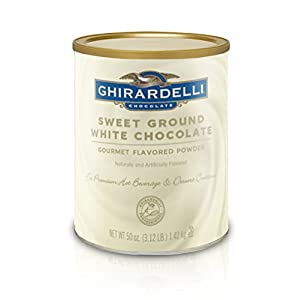 Ghirardelli Chocolate Sweet Ground White Chocolate Flavor Beverage Mix, 25-Pound Package