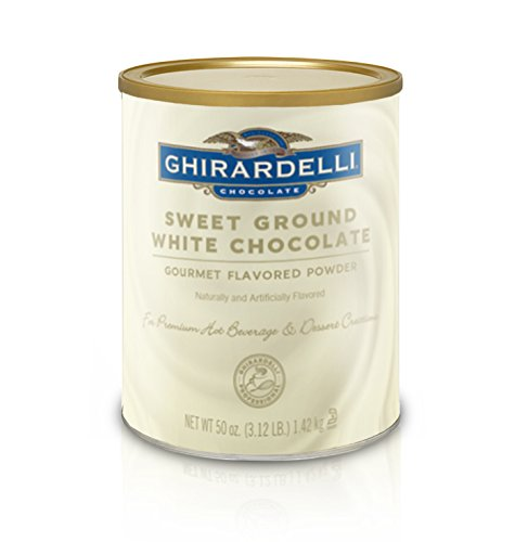 - Ghirardelli Sweet Ground White Chocolate Flavor Powder, 3.12 lbs.