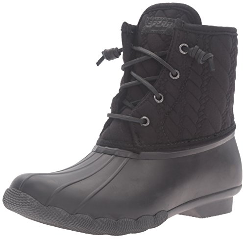 Sperry de Negro Rope para Lluvia Saltwater Mujer Botas qvvFt0r
