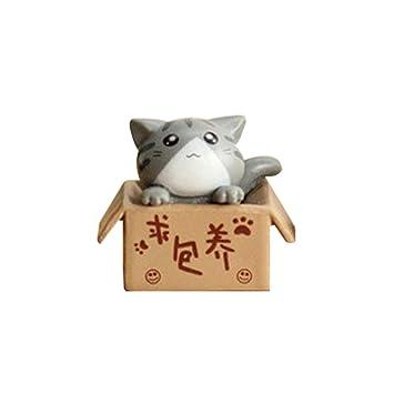 Huhuswwbin Schone Box Cartoon Katze Miniatur