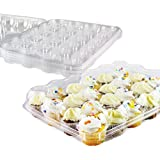 Cupcake Box Agreatca 20 pack Cake box,12 Mini Cupcake Container