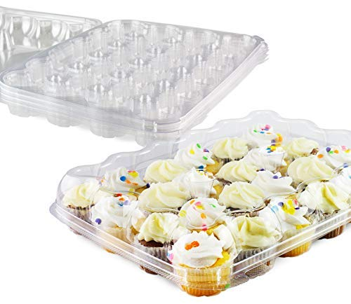 Mini Cupcake Box (Chefible Premium 24 Mini Cupcake Container | Extremely Durable Cupcake Boxes | Mini Cupcakes, 5)