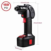 Portable Automatic Cordless Power Inflator Battery Powered Inflator for Bike Bicycle Car Tires Inflatables with Digital LCD