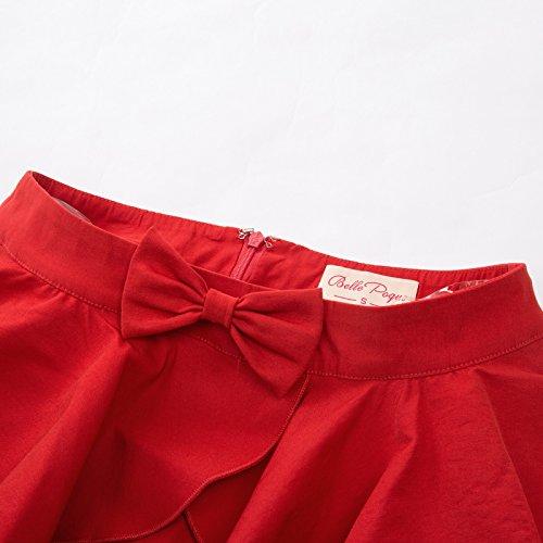 Vintage Ruffle GF557 557 Poque Belle Crayon Avec Knot Rouge Big Bow Femmes Jupe Solide Body 2 avec wpExIqf