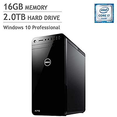 2017 Newest Dell XPS Flagship High Performance XPS Tower Desktop Intel i7-6700, 2GB GTX NVIDIA Graphics, 16GB DDR4 RAM, 2TB Hard Drive, DVD RW, WiFi+Bluetooth, Windows 10 Professional