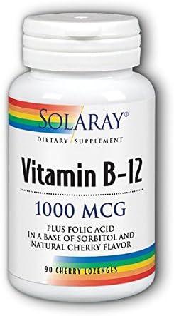 Vitamin B-12 1000mcg Solaray 90 Lozenge