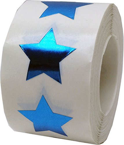 Party Supplies Salt Lake City Utah (Metallic Blue Star Shape Stickers Shiny Metallic Foil Teacher Supplies 3/4 Inch 500 Adhesive Labels)