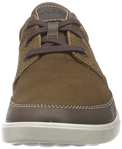 Ecco Heren Collin Nautisch Geperforeerde Fashion Sneaker Koffie / Camel
