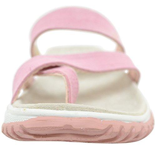 Mujer/mujer de piel ante Sandalias de playa de verano/Vacaciones//zapatos Rosa