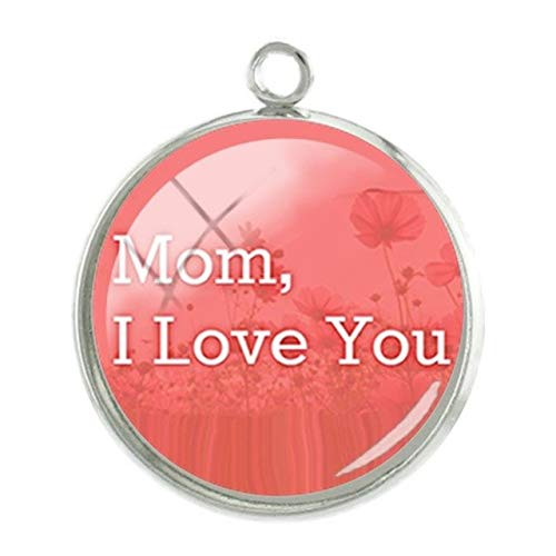 Pendants -1Pc Simple Mom Style Pendants Charms I Love You Pictures Mother39;S Day Gift 20Mm Fashion Handmade Jewelry - Mom112