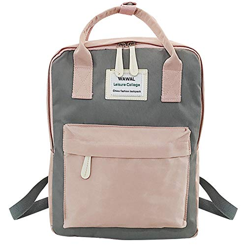 (Londony♪ Women Canvas Tote Handbags Casual Shoulder Work Bag Crossbody Travel Rucksack Sling Bag Messenger Bag Ladies Gray )