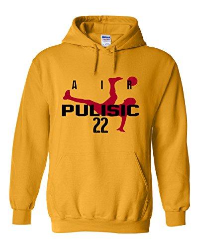 "The Silo GOLD Borussia Dortmund Christian Pulisic ""Air Pulisic"" Hooded Sweatshirt YOUTH"