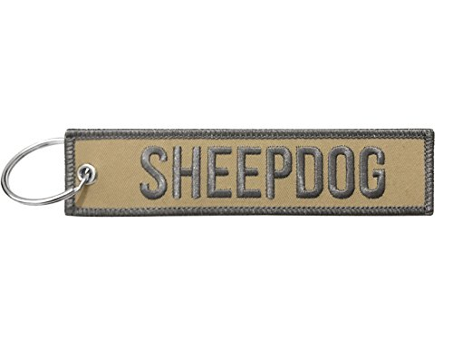 (Military Sheepdog Keychain Tag with Key Ring, EDC for Servicemen, Car, Motorcycle)