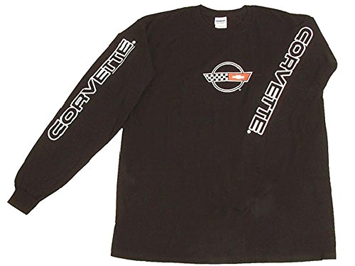 Corvette C4 Long-Sleeved T-Shirt Black Small