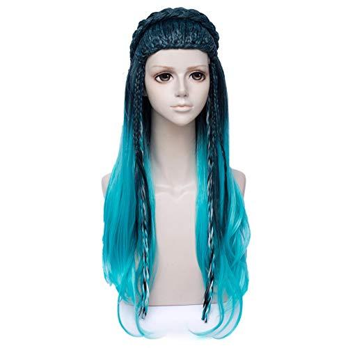 Netgo Teal Mixed Blue Cosplay Wigs Halloween