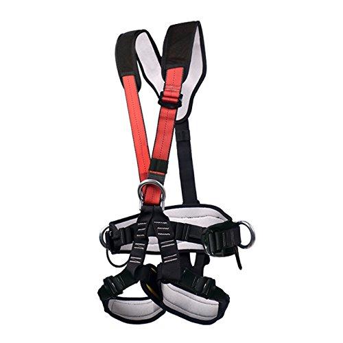 GRALARA屋外 登山 クライミング 懸垂下降 全身ロック 安全ベルト ハーネス ストラップ  耐久性   B06XNMX74K