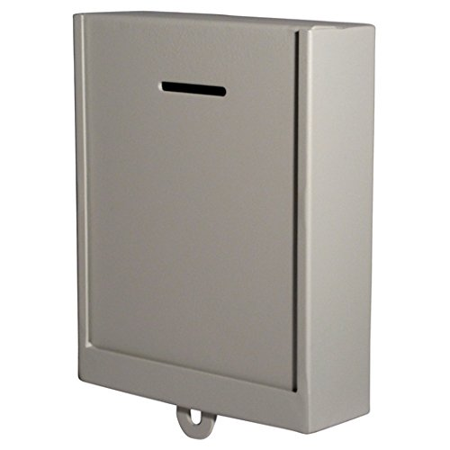 MCB - Classic Metal Donation Box - Comment Box - Secure Collection Box - Ballot Box, Ticket Box - Easy Wall Mounting,(Lock with Padlock Not Included) by My Charity Boxes