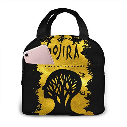 Lunch Bags For Men Women, Gojira L'enfant Sauvage Insulated Durable Lunch Box Tote Bag Cooler Bag For Work School Picnic Travel Beach