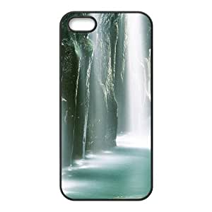 Diy Nature Waterfall Phone Case For Sam Sung Note 4 Cover Black Shell Phone JFLIFE(TM) [Pattern-4]