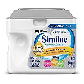 Similac Pro-Advance Infant Formula with Iron, with 2'-FL HMO, Immune Support, Baby Formula, Powder, 23.2 ounces, 6 Count