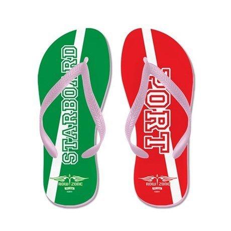 Lplpol StarboardPort Flip Flops for Kids Adult Beach Sandals Pool Shoes Party Slippers Black Pink Blue Belt for Chosen